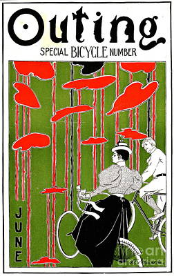 Poster featuring the photograph Vintage Bicycle Issue 1896 by Padre Art