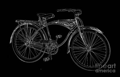 Vintage Bicycle Tee Poster by Edward Fielding