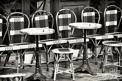 Vintage Cafe Chairs And Tables Poster
