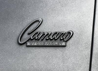 Vintage Camaro Side-panel Logo Poster