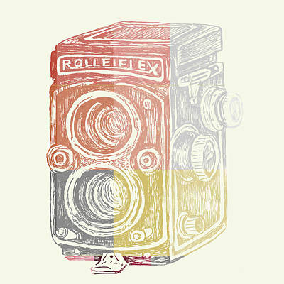Vintage Camera Poster by Brandi Fitzgerald