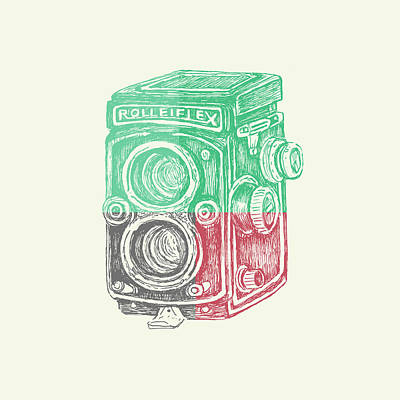 Vintage Camera Color Poster by Brandi Fitzgerald