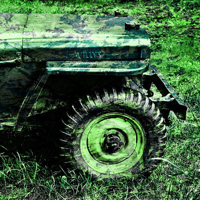 Vintage Camo Willys Poster