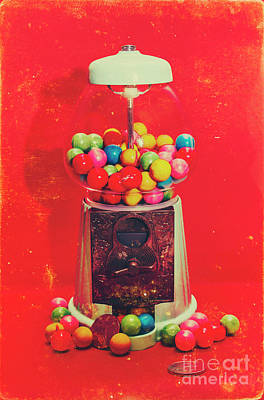 Vintage Candy Store Gum Ball Machine Poster