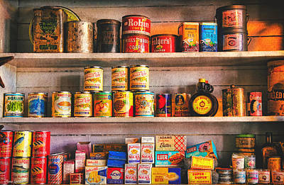 Vintage Canned Goods Poster by Anna Louise