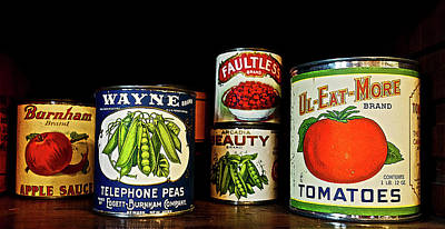 Vintage Canned Vegetables Poster by Joan Reese