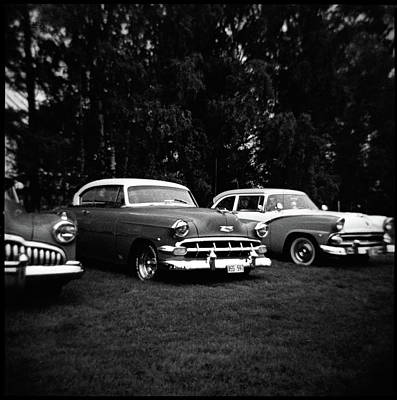 Vintage Car And Holga 120 Poster by Mikael Jenei