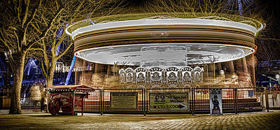 Vintage Carousel Poster by Martin Newman