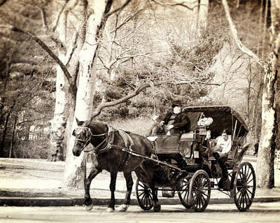 Vintage Carriage Ride In Central Park Poster