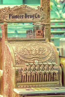 Vintage Cash Register Poster by Pamela Williams