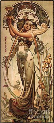 Vintage Champagne Ad Poster
