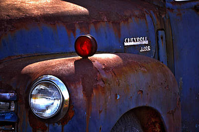 Vintage Chevy 4400 Happily Retired Poster by Lesa Fine