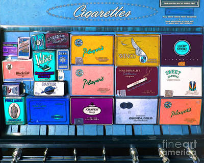 Vintage Cigarette Dispenser 20150830 M180 Poster by Wingsdomain Art and Photography