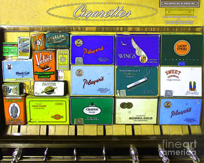 Vintage Cigarette Dispenser 20150830 P28 Poster by Wingsdomain Art and Photography