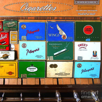 Vintage Cigarette Dispenser 20150830 Square Poster by Wingsdomain Art and Photography