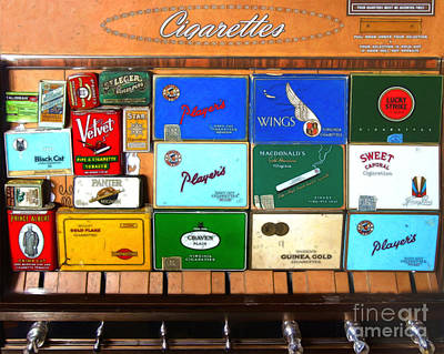 Vintage Cigarette Dispenser 20150830 Poster by Wingsdomain Art and Photography
