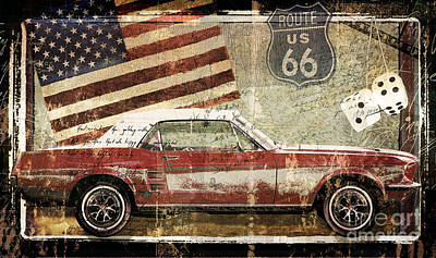 Vintage Classic Auto Poster by Mindy Sommers