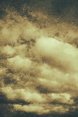 Vintage Cloudy Sky. Old Day Background Poster