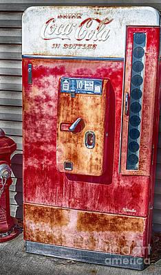 Vintage Coca-cola Machine 10 Cents Poster