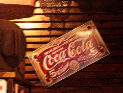 Vintage Coca Cola Sign Poster by Linda Phelps