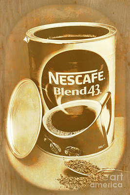 Vintage Coffee Product Adverting Poster by Jorgo Photography - Wall Art Gallery