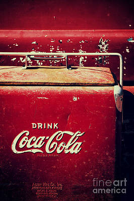 Vintage Coke Cooler Poster by Tim Gainey