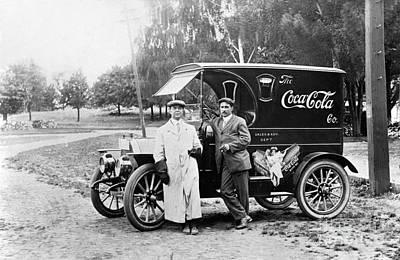 Vintage Coke Delivery Truck Poster
