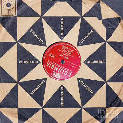 Poster featuring the photograph Vintage Columbia Records Graphic Design by Edward Fielding