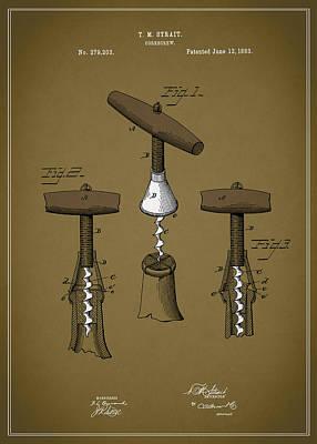 Vintage Corkscrew Poster