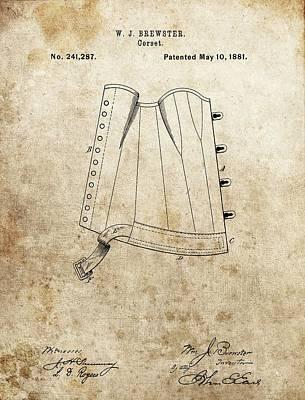 Vintage Corset Patent Poster
