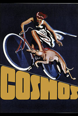 Vintage Cosmos Greyhound Bicycle Poster