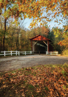 Poster featuring the photograph Vintage Covered Bridge by Dale Kincaid