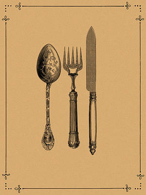 Vintage Cutlery 1 Poster