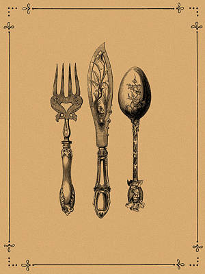 Vintage Cutlery 2 Poster