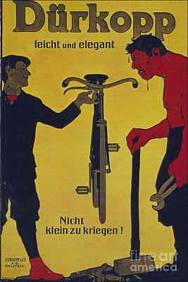 Vintage Cycle Poster Durkop Leicht Und Elegant Poster