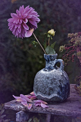 Poster featuring the photograph Vintage Dahlia Still Life by Richard Cummings