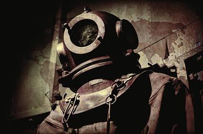 Vintage Deep Sea Diving Suit Poster by Daniel Hagerman