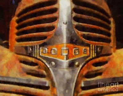Vintage Dodge Pop Art Poster