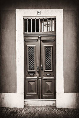 Vintage Door In Lisbon Poster by Carol Japp