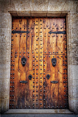 Vintage Door In Valencia Spain  Poster