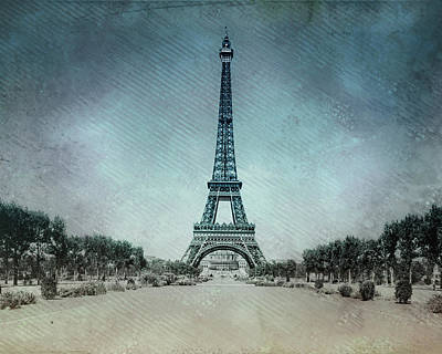 Vintage Eiffel Tower Poster by Bill Cannon