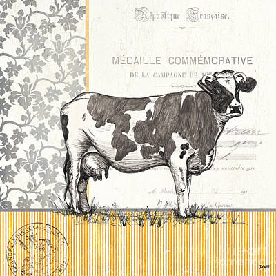 Vintage Farm 4 Poster by Debbie DeWitt