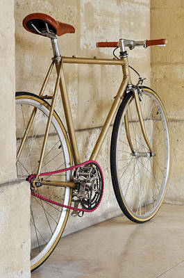 Vintage Fixie With A Pink Chain Poster by Dutourdumonde Photography