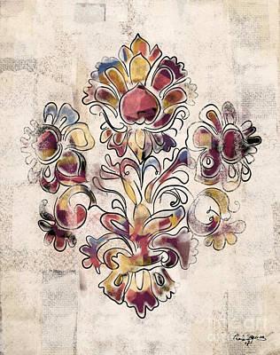 Vintage Fleur Poster by Carrie Joy Byrnes