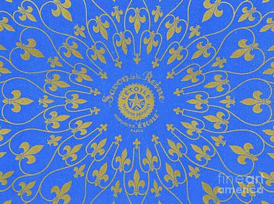 Vintage Fleur De Lis Pattern Design Poster by French School