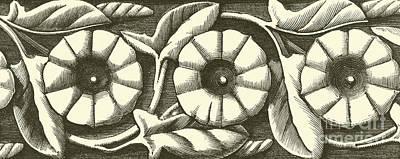 Vintage Floral Textile Pattern Poster