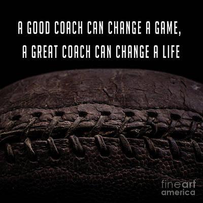 Vintage Football  Good Coach Poster