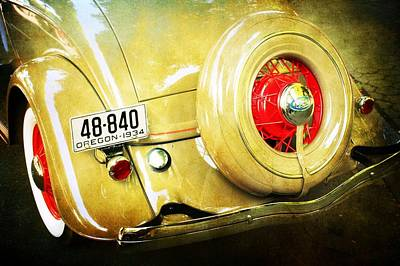 Vintage Ford Poster by Cathie Tyler