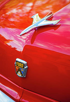 Poster featuring the photograph Vintage Ford Hood Ornament Havana Cuba by Charles Harden