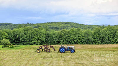 Vintage Ford Tractor Tilt Shift Poster by Edward Fielding